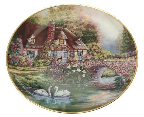 Franklin Mint Cottage plate Cottage at Meadowgate Violet Schwenig - heirloom collection - CP1375