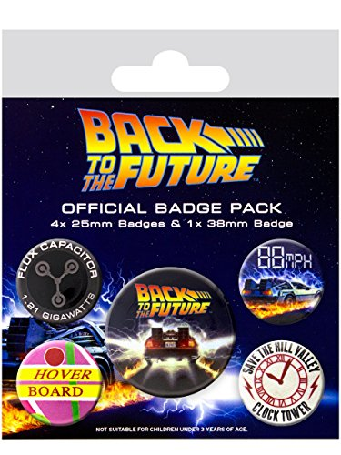 Back To The Future Delorean Badge Pack