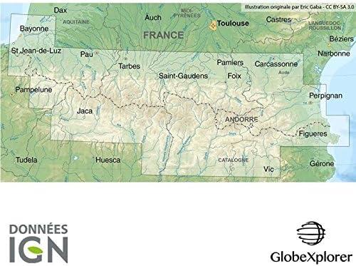 Mapa topográfico de los Pirineos – Pack Pirineos – Francia/España ...