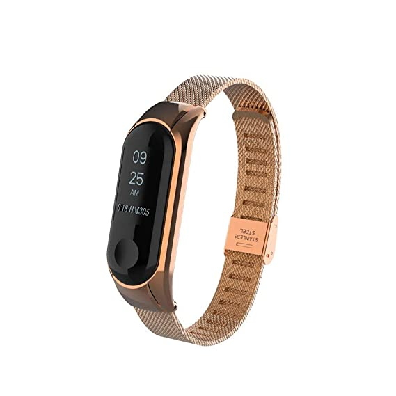 Xiaomi Mi Band 3 Bands,Gosuper Milanese Stainless Steel Watch Band Strap for Xiaomi Mi Band 3