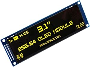 """YASE-king OLED Display 3.12"""" 256 * 64 25664 Dots Graphic LCD Module Display Screen LCM Screen SSD1322 Controller Support SPI (Color : Yellow)"""