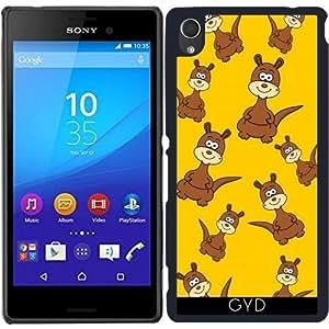 Funda para Sony Xperia M4 Aqua / Aqua DUAL - Canguro Sonriendo by zorg