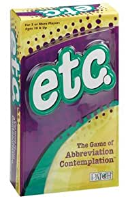 Patch Products Inc. etc. - The Game of Abbreviation Contemplation