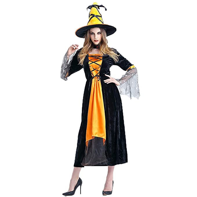 WYN Disfraces De Halloween Mujeres, Bruja Hechicera para Adultos ...