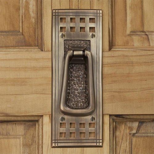 Casa Hardware Brass Door Knocker in Antique Brass Finish