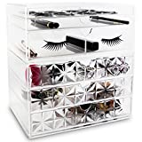 Ikee Design Acrylic False Eye Lashes Extensions Holder Makeup Organizer 9 3/4