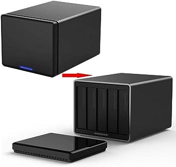 Contenedores HWENJ HDD USB 3.0 una Carcasa 5 con Raid, Discos de Seguridad de Aluminio Duro de aleación de Caja de la Caja HDD HDD 50 TB: Amazon.es: Electrónica