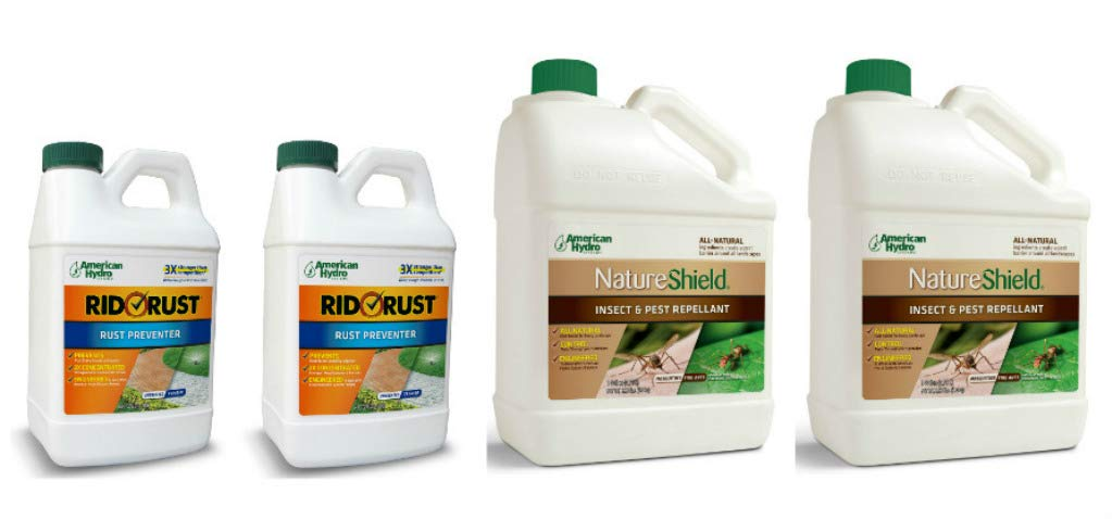 Pro Products Pack Rid O' Rust Stain Preventer and NatureShield Insect Pest Repellant, 4 Bottles Total by Pro Products