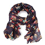 Women's Ladies Owl Print Fashion Scarf Wraps Shawl Soft Scarves Multi Color by DiaryLook - Mothers Day Gifts