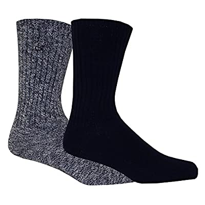 Calvin Klein 2-Pack Ribbed Cotton Boot Men's Socks, Navy