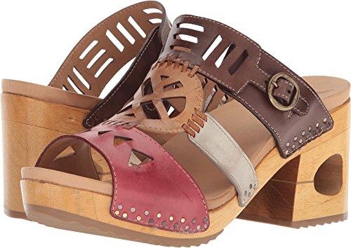 Dansko Womens Oralee Multi Waxy Full Grain Sandal - (Wooden Mule Sandals)