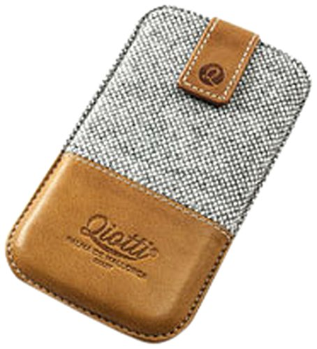 QIOTTI Luxury Style Case für Apple iPhone 5/5S/5C Braun Punkt