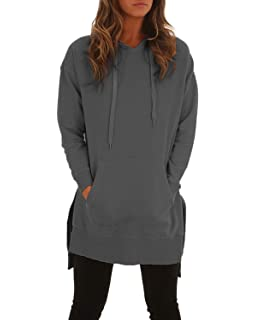 1117bbd945 Style Dome Women s Hoodies Jumper Long Tops Plus Size Pullover Sweatshirt  Loose Casual Coat