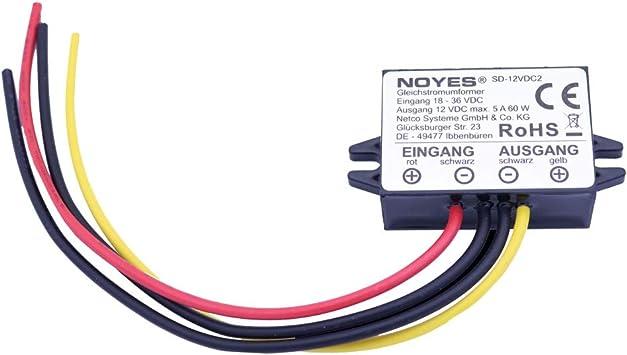 Voltage Converter 24 V 36 V 48 V Dc To 12 V Dc 3 A 36 W Converter Step Down Truck Adapter Baumarkt
