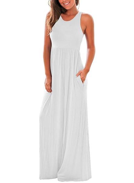 Review Lovezesent Women's Sleeveless Racerback Long Maxi Summer Casual Dress …