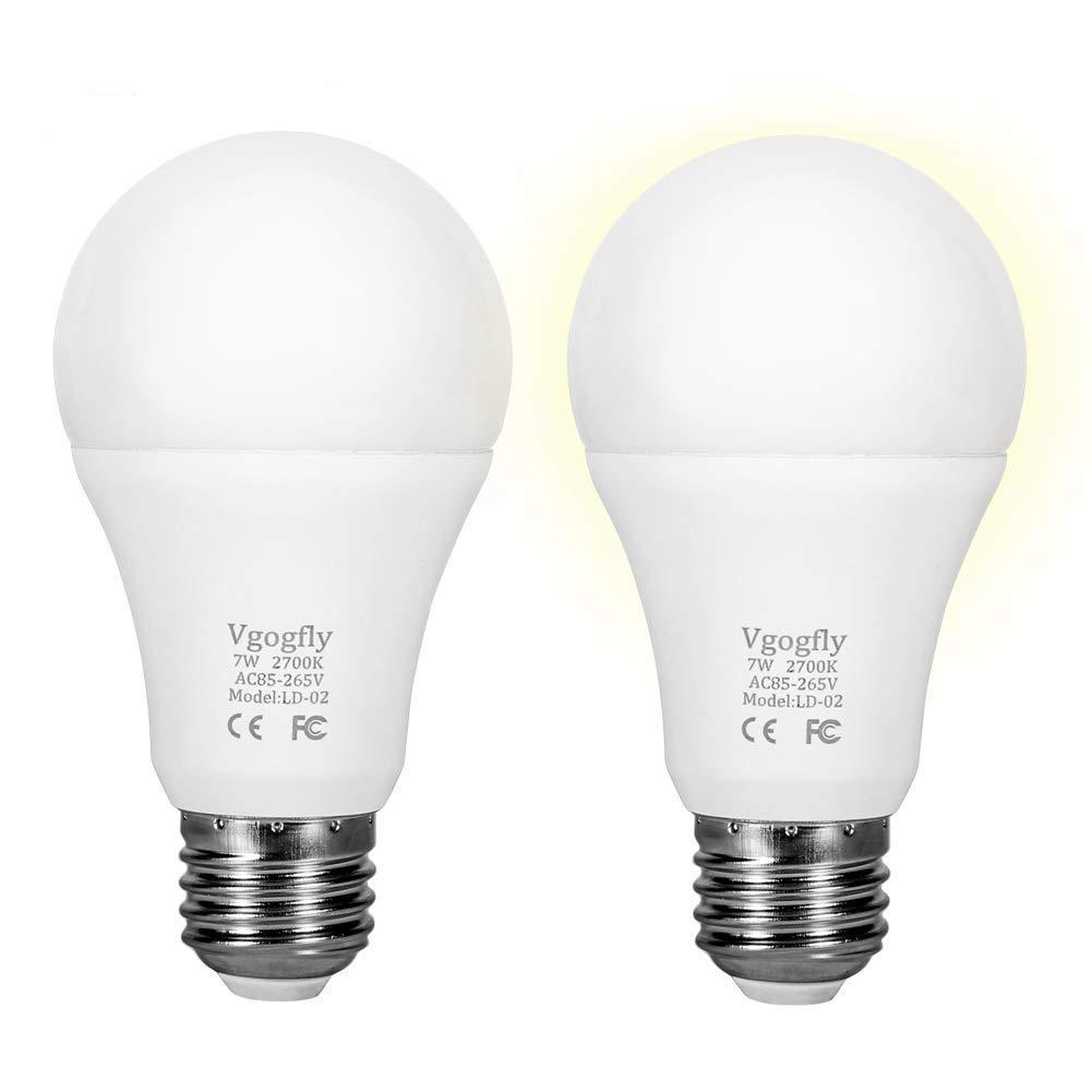 Sensor lights bulb dusk to dawn led light bulbs smart lighting lamp 7w e26 e27 automatic on off indoor outdoor yard porch patio garage garden warm