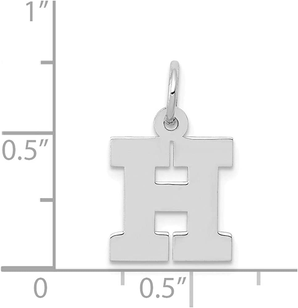 Mia Diamonds 14K White Gold Small Blockinitial W Charm