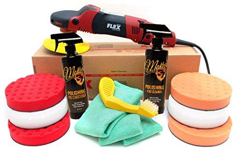 Flex PE14-2-150 Rotary Polisher 6.5 Inch CCS Pad Kit by Flex Power Tools