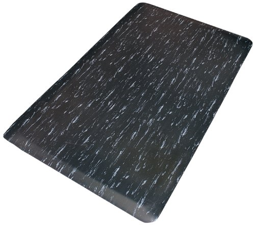 Tile Top Anti Fatigue Mat (Rhino Mats TT-310BW Marbleized Tile Top Anti-Fatigue Mat, 3' Width x 10' Length x 1/2