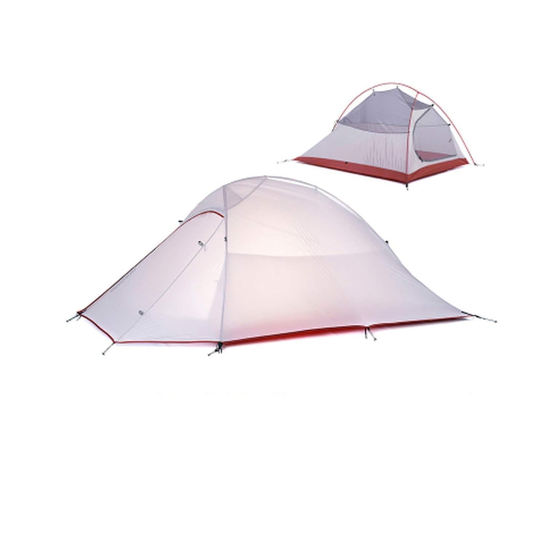ビーチテント キャンプテント 超軽量 1 2 3 人用 男性 4シーズン 二層 アルミニウム ロッド アウトドア 旅行 マット付き  2 person gray B07QTYX9LH