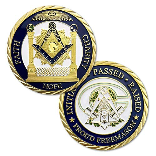 - DishyKooker Masonic Working Tools Sign Freemasons Accessories Masonic Challenge Coin North Carolina Coin