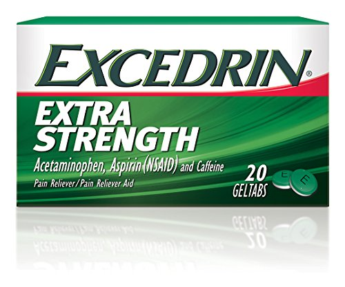 Excedrin Extra Strength Pain Relief Gel Tabs 20 count for Headache (Excedrin Extra Strength Caplets)