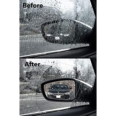 HD Crystal Vision Hydrophilic Mirror Protector Kit: Anti Fog, Water, Glare Film for Car Side View Mirrors. Anti-Glare, Anti-Scratch, Waterproof Protective Nano Shield Stickers for All Vehicles: Automotive