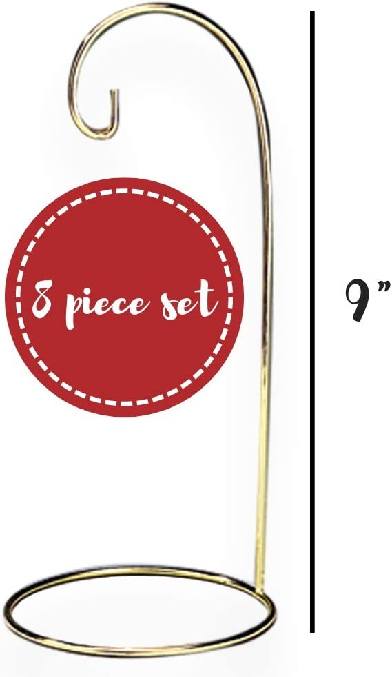 9 H BANBERRY DESIGNS Christmas Wire Ornament Stands Display Holder Gold Colored Set of 4 Pcs 1312-9
