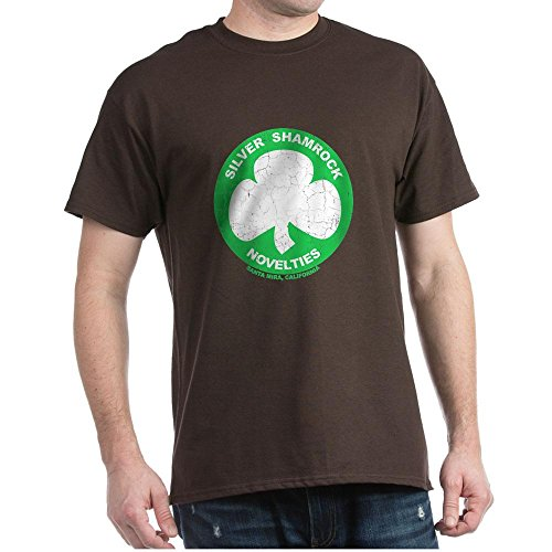 CafePress Silver Shamrock Faded 100% Cotton T-Shirt -