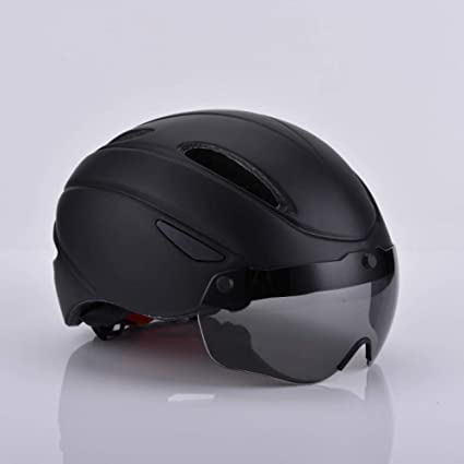 LIUDATOU Aero Ultra-Light Goggle Road Casco para Bicicleta TT ...