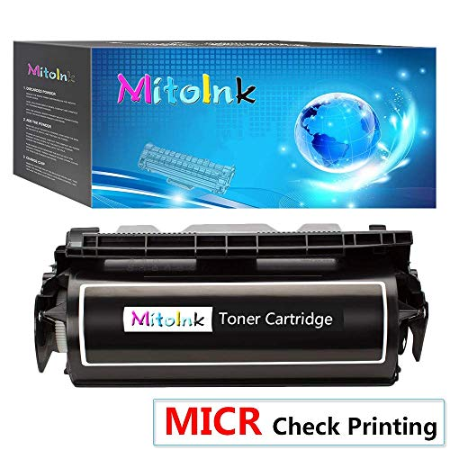 MitoInk 12A7365 MICR Toner Cartridge Compatible for Lexmark 12A7365 Printer Toner Cartridge -for Check Printing Black 32,000 Pages