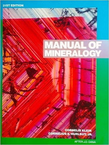 Manual mineralogy abebooks.