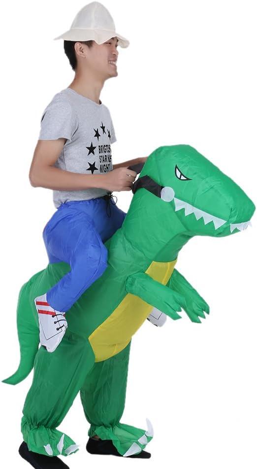 Compresor traje hinchable Dinosaurio, disfraz hinchable Adulto ...