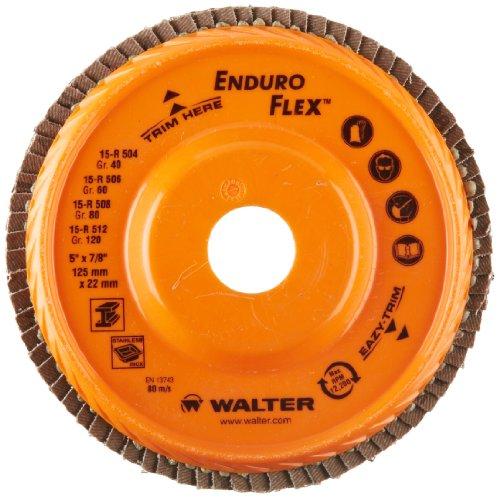 walter-enduro-flex-abrasive-flap-disc-type-29-5-8-11-thread-size-trimmable-wood-fiber-backing-zircon