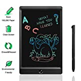 LCD Writing Tablet, 8.5 Inch Portable Electronic Writing Drawing Board Doodle Pads for Kids and Adults, Digital Handwriting Notes Use for School, Home and Office (Colorful Font)