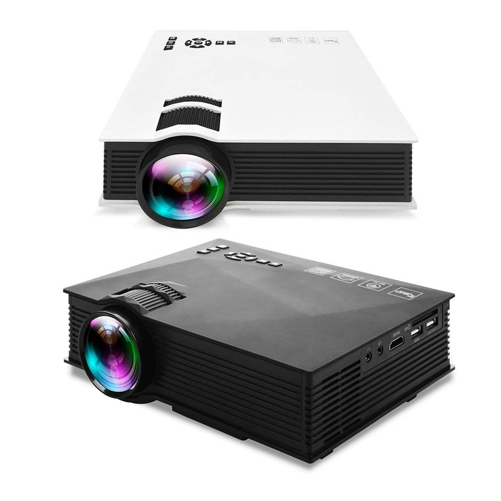 UC46 + Mini HD Proyector 1200LM Home Theater Projector con WiFi ...