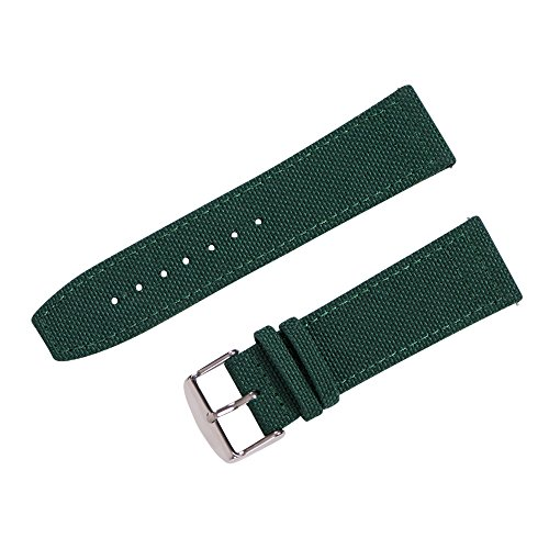 Clockwork Synergy - Cordura Quick Release Watch Band (22mm, Forest Green) ()