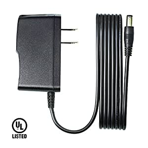 Tbuymax 9V 1.5A AC/DC Power Adapter for Arduino - Center Positive 5.5mm x 2.1mm DC Jack Barrel Connector Power Supply TransformerCord (6.6 Ft Cable)