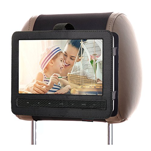 Zuggear Car Headrest Mount Holder Strap Case for Swivel and Flip Style Portable DVD Player - 9 Inch to 9.5 Inch