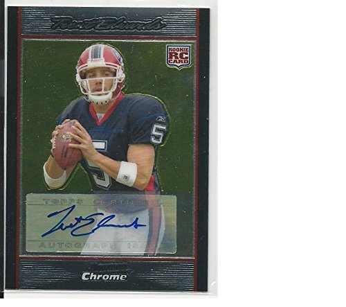 Football NFL 2007 Topps Bowman Chrome #BC61 Trent Edwards #BC61 EX/NM RC Rookie Auto