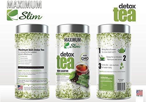 MaximumSlim Thé détoxifiant - le Meilleur de la Bio Minceur Thé sur Amazon - Stimule le Métabolisme, Réduit les Ballonnements et Améliore le Teint - 100% Naturel , d'un Goût Délicieux