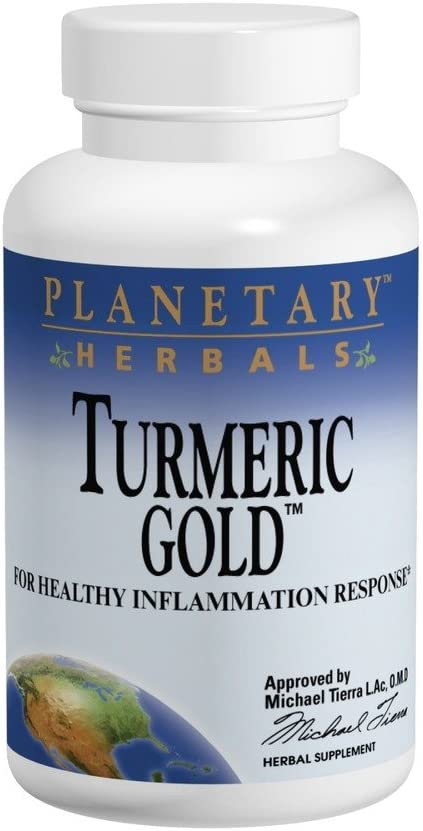 Planetary Herbals Turmeric Gold 500mg, for Healthy Inflammation Response, 120 Tablets