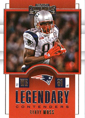 (2017 Panini Contenders Legendary Contenders #11 Randy Moss New England Patriots Football Card)