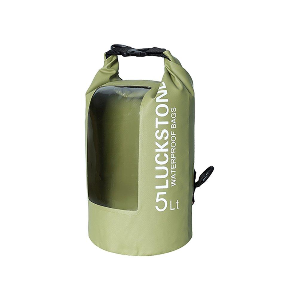SOXDirect Waterproof Dry Sack 5L Transparent Window Adjustable Shoulder Strap Lightweight Roll Top PVC Beach//Hiking//Kayak//Fishing//Floating//Camping//Swimming//Rafting