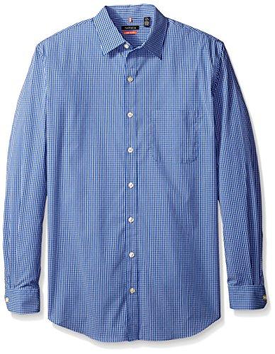 Van Heusen Men's Big and Tall Traveler Non Iron Stretch Long Sleeve Shirt, Blue Mazarine, 4X-Large Big