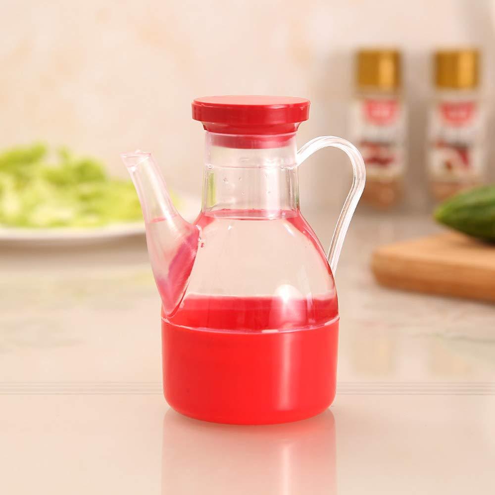 Olio bottiglia di plastica contenitori con manico da cucina dispenser bottiglia contenitore ermetico height 11.5cm/4.53, bottle diameter 6cm/2.36 Blue Jialong Dianzi