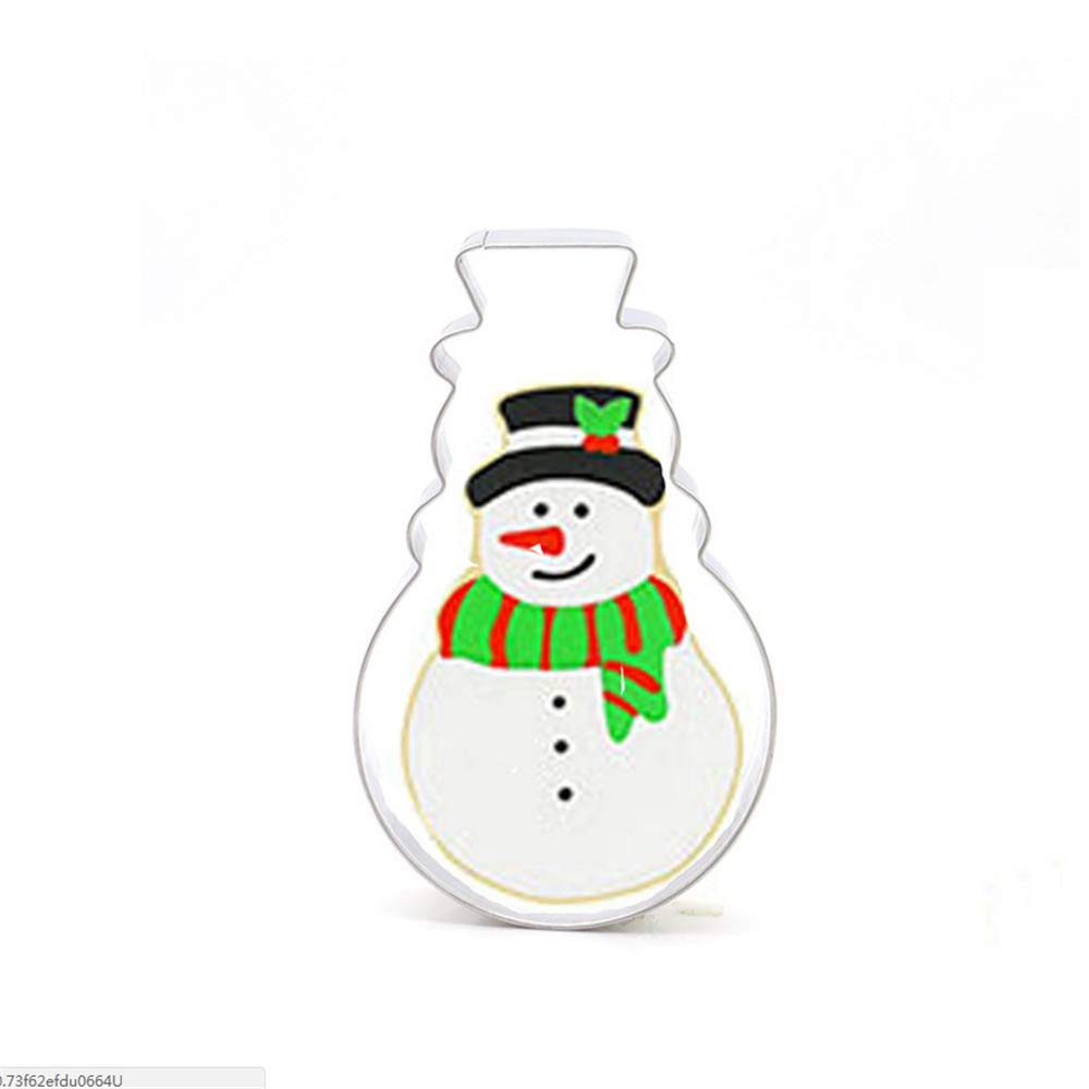 XGuangage 14pcs Stainless Steel Christmas Tree Snowman Cake Molds DIY Dessert Cake Mold Mini Baking Mold for Home Crafts