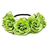 Newly arrived Rattan Flower Vine Crown Tiaras Necklace Belt Party Decoration (ivory-2)