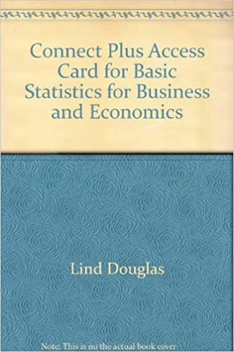 Connect plus access card for basic statistics for business and connect plus access card for basic statistics for business and economics 7th edition fandeluxe Gallery
