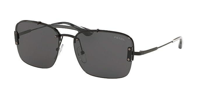 086ef96e8650a Amazon.com  Prada Men s 0PR 56VS Black Grey One Size  Prada  Clothing
